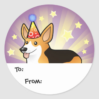 Birthday Pembroke Welsh Corgi Gift Tags