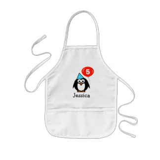 Birthday penguin apron for kids | Personalize