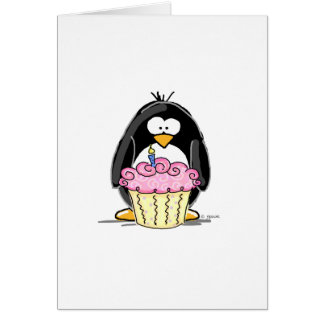 Birthday Penguin with Cupcake Cards