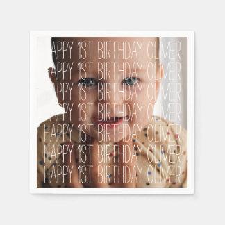 Birthday Photo Disposable Serviette