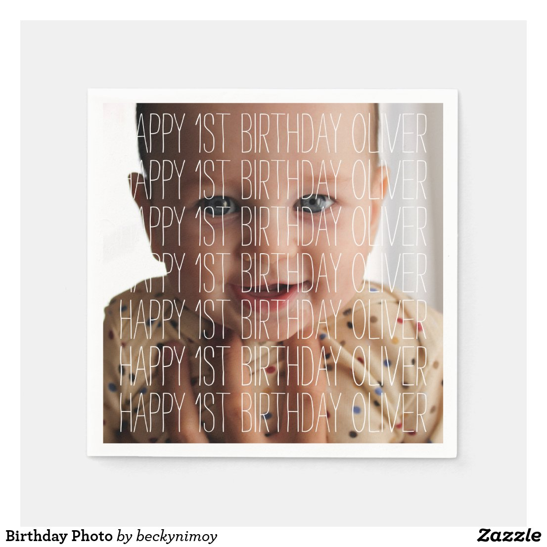 Birthday Photo Paper Napkin
