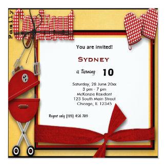 Birthday Picnic 13 Cm X 13 Cm Square Invitation Card
