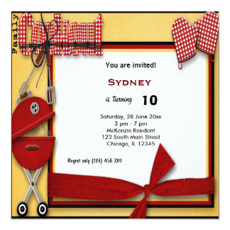 Birthday Picnic Personalized Announcement