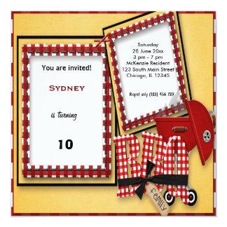 Birthday Picnic 5.25x5.25 Square Paper Invitation Card