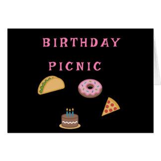 Birthday Picnic Party Card