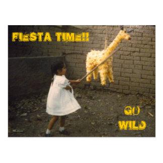 Birthday Pinata Postcard