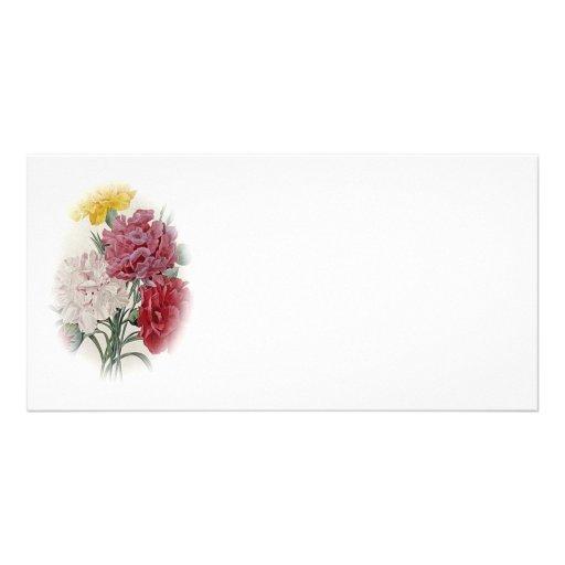 Birthday Pinks - Soft Edged Oval Photo Greeting Card