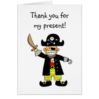 Birthday pirate, Thank you for my present Card