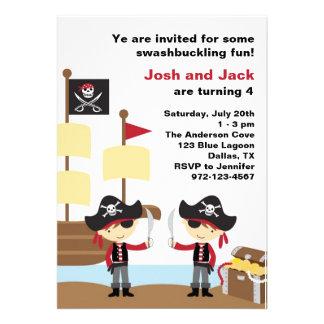 Birthday Pirates Personalized Invitations