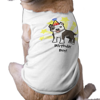 Birthday Pitbull / American Staffordshire Terrier Sleeveless Dog Shirt