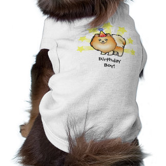 Birthday Pomeranian Sleeveless Dog Shirt