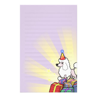 Birthday Poodle (show cut) Stationery