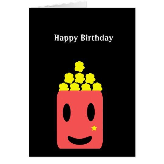 Birthday Popcorn Card