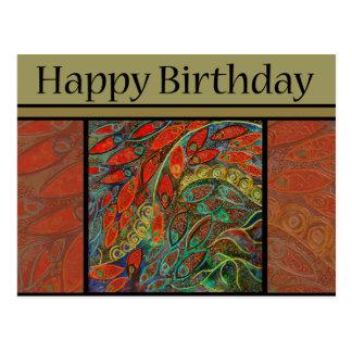 birthday postcard - revolving door painting