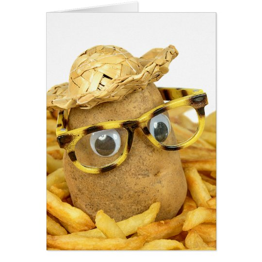 birthday potato in french fries card