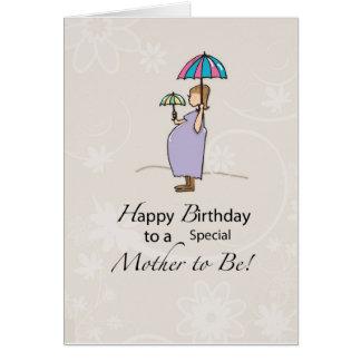 Birthday Pregnant Mom Greeting Card