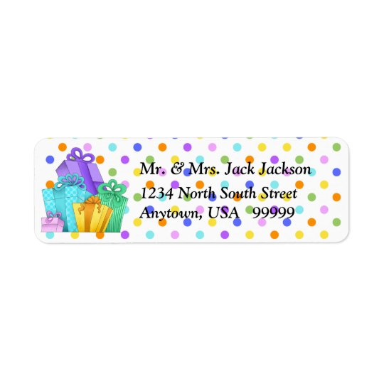 Birthday Presents Return Address Labels