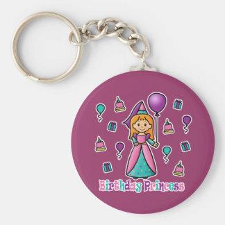 Birthday Princess Basic Round Button Key Ring