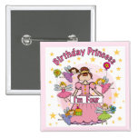 Birthday Princess I'm Four T-shirts and Gifts Pinback Button