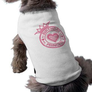 Birthday Princess - Pink - Sleeveless Dog Shirt