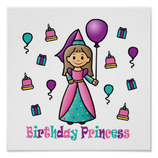 Birthday Princess Poster