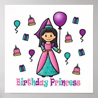 Birthday Princess Posters