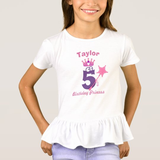 Birthday Princess Ruffle Top - Add Name & Age