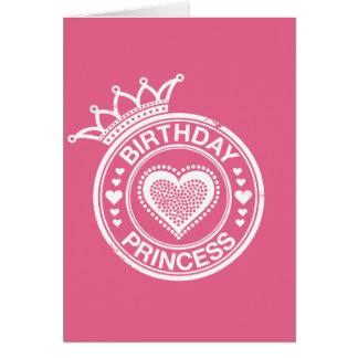 Birthday Princess -White- Greeting Card
