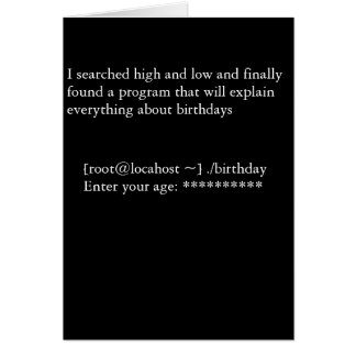 Birthday Program Card