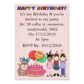 Birthday Puppy 13 Cm X 18 Cm Invitation Card
