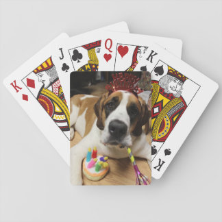 Birthday Puppy Playing Cards