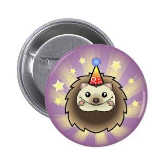 Birthday Pygmy Hedgehog 6 Cm Round Badge