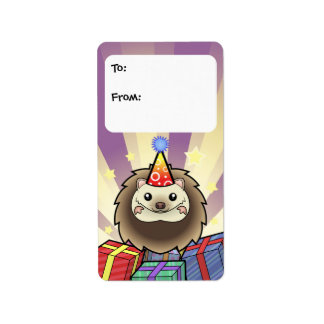 Birthday Pygmy Hedgehog Gift Tags Address Label