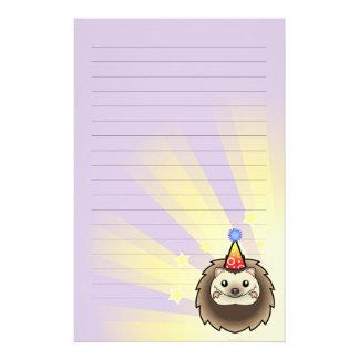 Birthday Pygmy Hedgehog Personalized Stationery