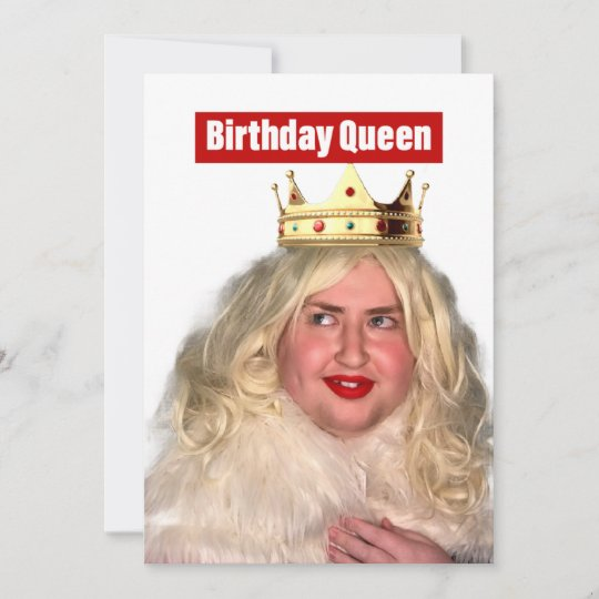 Birthday Queen Holiday Card