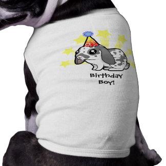 Birthday Rabbit (floppy ear smooth hair) Sleeveless Dog Shirt