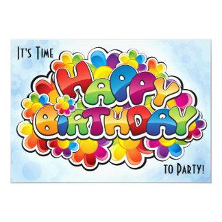 Birthday Rainbow Party Invitation