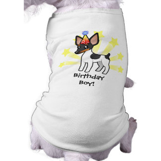 Birthday Rat Terrier / Toy Fox Terrier Sleeveless Dog Shirt