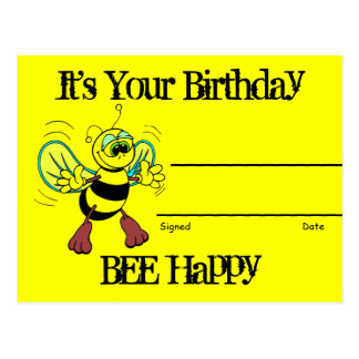 Birthday Recognition Award Post Card