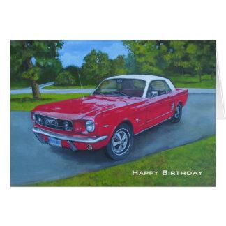 Birthday, Red Car, Original Painting, Shiny Car Greeting Card