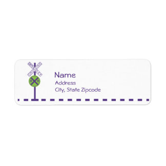 Birthday Return Address Label - Train