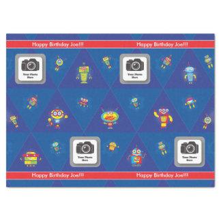 Birthday Robot Tissue Paper