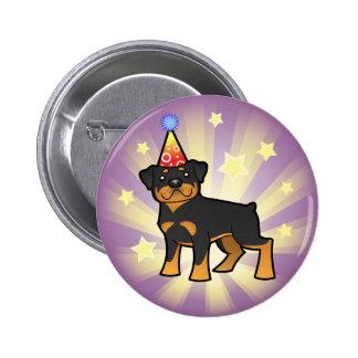 Birthday Rottweiler 6 Cm Round Badge