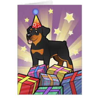 Birthday Rottweiler Card