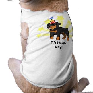 Birthday Rottweiler Sleeveless Dog Shirt