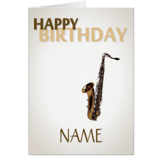 Birthday Sax Card