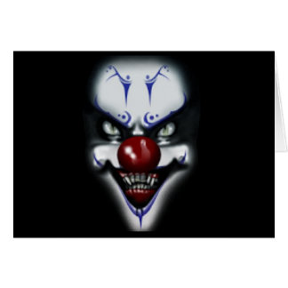 Birthday Scary Clown Card