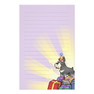Birthday Schnauzer Stationery
