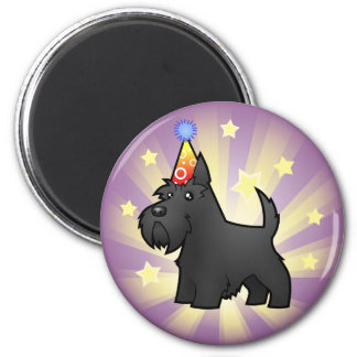Birthday Scottish Terrier 6 Cm Round Magnet