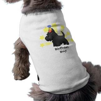 Birthday Scottish Terrier Sleeveless Dog Shirt